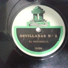 Discos de vinilo: EL MOCHUELO - SEVILLANAS Nº2 / MARIANAS 13254 13255 ODEON PIZARRA 78 RPM. Lote 40058156