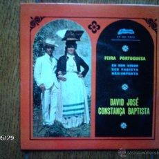 Discos de vinilo: DAVID JOSE - CONSTANÇA BAPTISTA - EU SOU ASSIM + 3. Lote 40104413