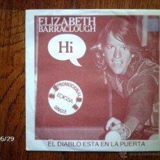 Discos de vinilo: ELIZABETH BARRACLOUGH - EL DIABLO ESTA EN LA PUERTA + 2. Lote 40104772
