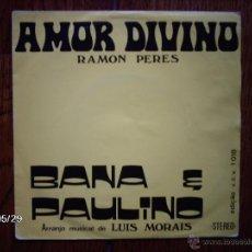 Discos de vinilo: BANA E PAULINO - A VOZ DE CABO VERDE - AMOR DIVINO + POR CAUSA DE VOCE . Lote 40131111