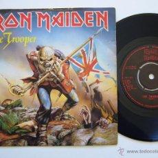Discos de vinilo: IRON MAIDEN. SINGLE. THE TROOPER. EDICIÓN INGLESA. LABEL NEGRO. Lote 40068146