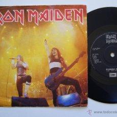 Discos de vinilo: IRON MAIDEN. SINGLE. RUNNING FREE LIVE. EDICIÓN INGLESA. LABEL NEGRO. Lote 40068529