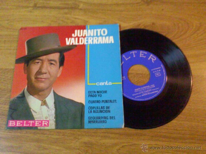 JUANITO VALDERRAMA. ESTA NOCHE PAGO YO. (Música - Discos de Vinilo - EPs - Flamenco, Canción española y Cuplé)