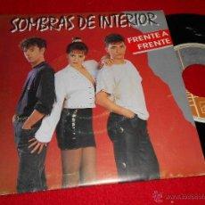 Discos de vinilo: SOMBRAS DE INTERIOR FRENTE A FRENTE/ UN ERROR 7 SINGLE 1991 HORUS VALENCIA POP. Lote 40082251