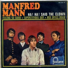 Discos de vinilo: MANFRED MANN / HA! HA! SAID THE CLOWN / FEELING SO GOOD + 2 (EP 1967). Lote 40080239