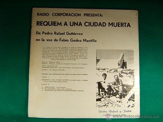 Discos de vinilo: REQUIEM A UNA CIUDAD MUERTA-MANAGUA-NICARAGUA-PEDRO RAFAEL GUTIERREZ-FABIO GADEA MANTILLA-1972/1973. - Foto 2 - 40086653