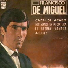 Discos de vinilo: FRANCISCO DE MIGUEL, EP, CAPRI DE ACABO + 3 , AÑO 1965. Lote 40088543