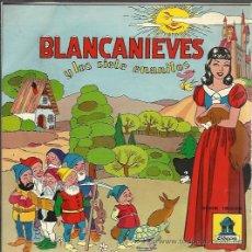 Discos de vinilo: CUENTO INFANTIL - BLANCANIEVES Y LOS SIETE ENANITOS - SINGLE ODEON 196?. Lote 40102662