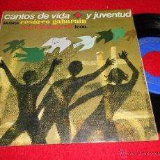 Discos de vinilo: CESAREO GABARAIN & CORAL ISIDORIANA LEON CANTOS DE VIDA JUVENTUD. BUENOS DÍAS SEÑOR +3 EP 1970 PAX. Lote 120472212