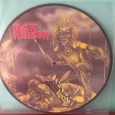 Discos de vinilo: IRON MAIDEN RUNNING FREE MAXI SINGLE PICTURE PROMO. Lote 40106082