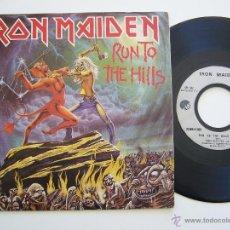 Discos de vinilo: IRON MAIDEN. SINGLE. RUN TO THE HILLS. EDICIÓN FRANCESA. Lote 40118089