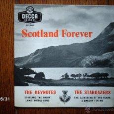 Discos de vinilo: THE KEYNOTES + THE STARGAZERS - SCOTLAND FOREVER . Lote 40178477