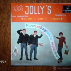 Discos de vinilo: LOS JOLLY´S - SUPERCALIFRAGILISTICO EXPIALIDOSO + 3. Lote 40178883