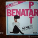Discos de vinilo: PAT BENATAR - ANXIETY ( GET NERVOUS )+ TELL IT TO HER + I WANT OUT . Lote 40201227