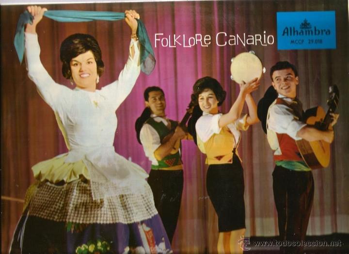 LP MARY SANCHEZ Y LOS BANDAMA : FOLKLORE CANARIO ( CANARIAS FOLK ) (Música - Discos - LP Vinilo - Étnicas y Músicas del Mundo)
