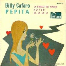 Discos de vinilo: BILLY CAFARO EP SELLO PHILIPS AÑO 1960. Lote 40141914