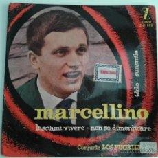 Discos de vinilo: MARCELLINO CONJUNTO LOS FUORILEGGE - IDOLO +3 1960 EP ZAFIRO MEGA RARO ITALIA. Lote 40146810