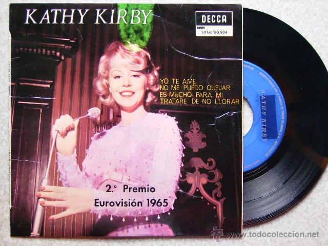 KATHY KIRBY.....YO TE AME + 3 (Música - Discos de Vinilo - EPs - Festival de Eurovisión)