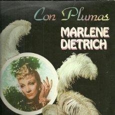 Discos de vinilo: MARLENE DIETRICH LP SELLO EMI-ODEON AÑO 1982 CON PLUMAS. Lote 40154548