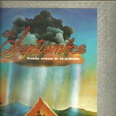 Discos de vinilo: BANDA SONORA ORIGINAL DE LA PELICULA SEPTIEMBRE LP SELLO EMI AÑO 1981 CANTA DYANGO. Lote 40154614