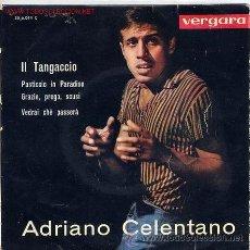 Discos de vinilo: ADRIANO CELENTANO IL TANGACCIO EP VERGARA SPAIN VERGARA 1963 . Lote 40159913