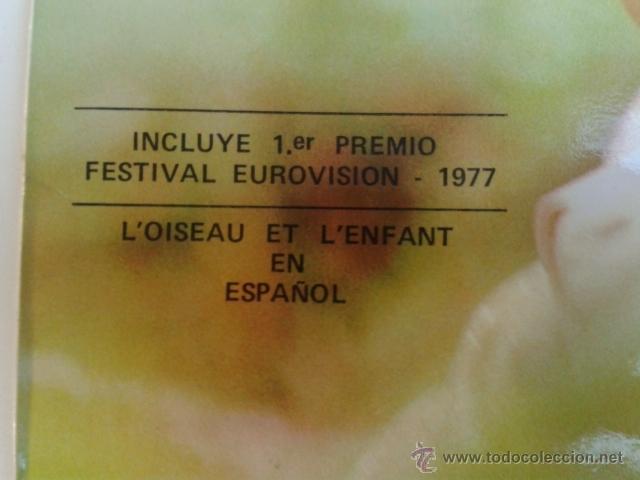 Discos de vinilo: Marie Myriam - EUROVISION 77 CANTA EN ESPAÑOL 1977 LP POLYDOR RARO - Foto 2 - 40160193