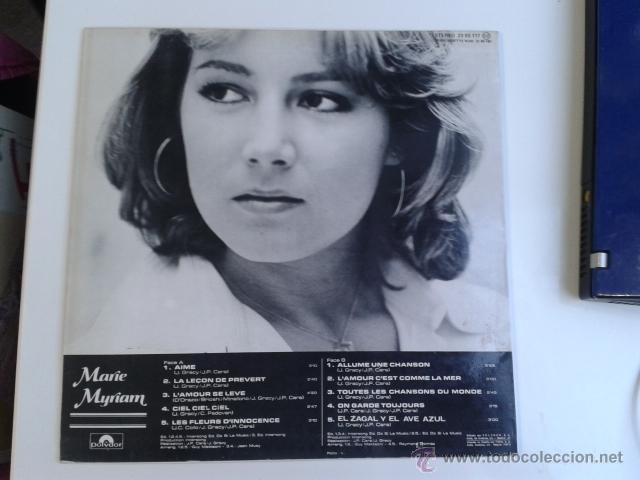 Discos de vinilo: Marie Myriam - EUROVISION 77 CANTA EN ESPAÑOL 1977 LP POLYDOR RARO - Foto 3 - 40160193