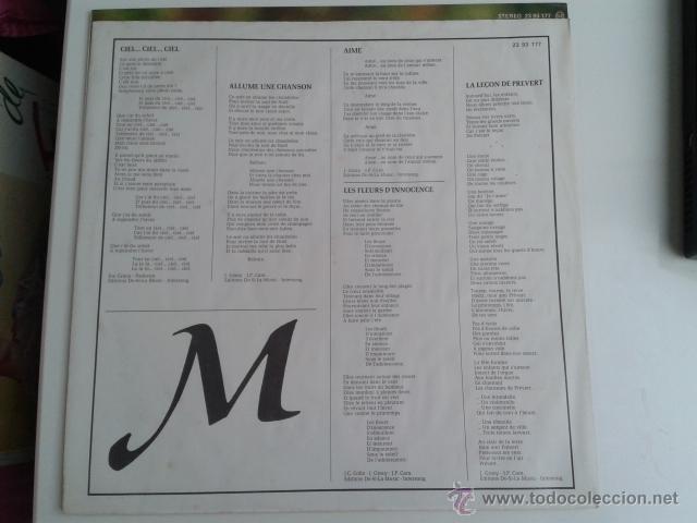Discos de vinilo: Marie Myriam - EUROVISION 77 CANTA EN ESPAÑOL 1977 LP POLYDOR RARO - Foto 6 - 40160193