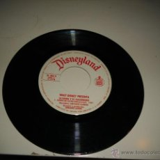 Discos de vinilo: DISNEYLAND LA DAMA Y EL VAGABUNDO SIN CARATULA. Lote 149292033