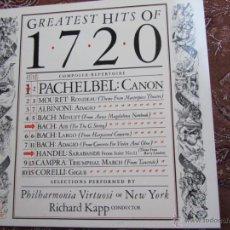 Discos de vinilo: LP VINILO DE GREATEST HITS OF 1720-PHILHARMONIA VIRTUOSI OF NEW YORK-DIRECTOR RICHARD KAPP- NUEVO. Lote 40167801