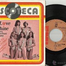Discos de vinilo: THE LOVE MACHINE SINGLE PROMO DANCE AND SHAKE YOUR FUNKY TAMBOURINE ESPAÑA 1978. Lote 40174167