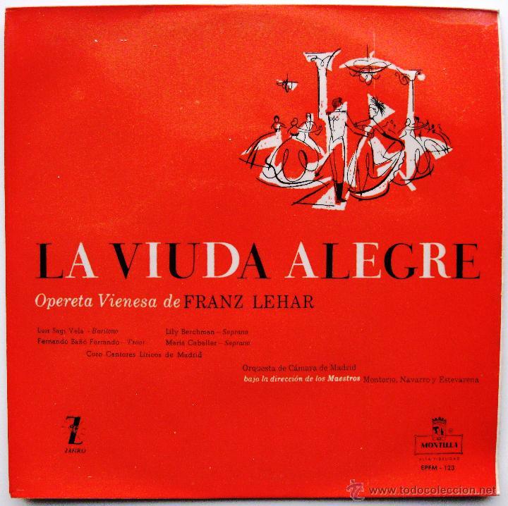 FRANZ LEHAR - LA VIUDA ALEGRE - EP MONTILLA 1956 BPY (Música - Discos de Vinilo - EPs - Clásica, Ópera, Zarzuela y Marchas)