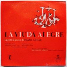 Discos de vinilo: FRANZ LEHAR - LA VIUDA ALEGRE - EP MONTILLA 1956 BPY. Lote 40176159