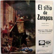 Discos de vinilo: BANDA DE LA POLICIA ARMADA Y DE TRÁFICO DE BARCELONA - EL SITIO DE ZARAGOZA - EP 1958 BPY. Lote 40176278