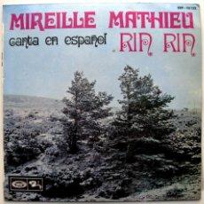 Discos de vinilo: MIREILLE MATHIEU - CANTA EN ESPAÑOL - RIN RIN +3 - EP BARCLAY 1968 BPY. Lote 40176642