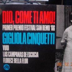 Discos de vinilo: GIGLIOLA CINQUETTI EP DIO,COMO TI AMO!. Lote 40176712