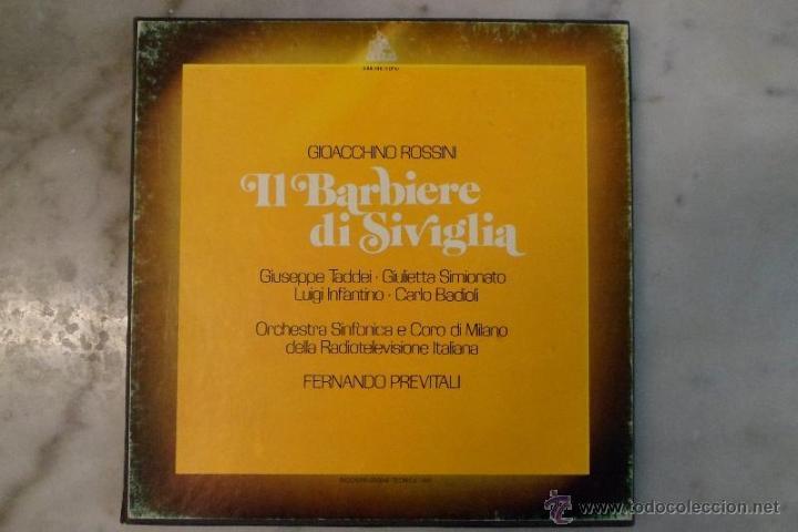 ESTUCHE 3 LP´S IL BARBIERE DI SIVIGLIA. EL BARBERO DE SEVILLA. ROSSINI. HISPAVOX 1981 (Música - Discos de Vinilo - Maxi Singles - Clásica, Ópera, Zarzuela y Marchas)