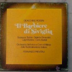 Discos de vinilo: ESTUCHE 3 LP´S IL BARBIERE DI SIVIGLIA. EL BARBERO DE SEVILLA. ROSSINI. HISPAVOX 1981. Lote 40453349
