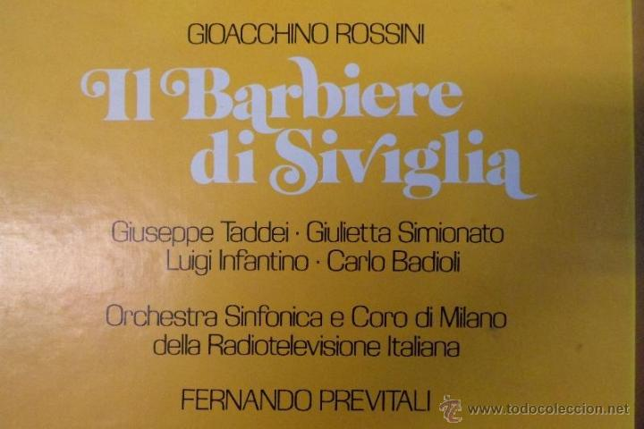 Discos de vinilo: ESTUCHE 3 LP´S IL BARBIERE DI SIVIGLIA. EL BARBERO DE SEVILLA. ROSSINI. HISPAVOX 1981 - Foto 2 - 40453349