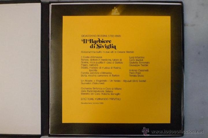 Discos de vinilo: ESTUCHE 3 LP´S IL BARBIERE DI SIVIGLIA. EL BARBERO DE SEVILLA. ROSSINI. HISPAVOX 1981 - Foto 3 - 40453349