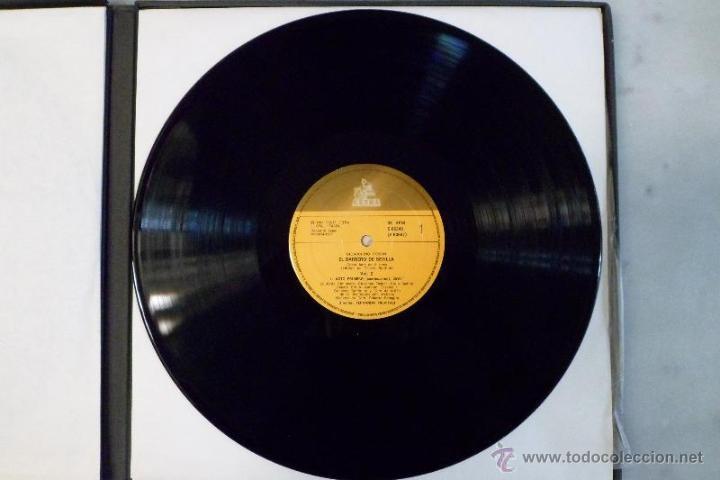 Discos de vinilo: ESTUCHE 3 LP´S IL BARBIERE DI SIVIGLIA. EL BARBERO DE SEVILLA. ROSSINI. HISPAVOX 1981 - Foto 5 - 40453349