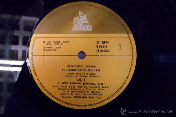 Discos de vinilo: ESTUCHE 3 LP´S IL BARBIERE DI SIVIGLIA. EL BARBERO DE SEVILLA. ROSSINI. HISPAVOX 1981 - Foto 7 - 40453349
