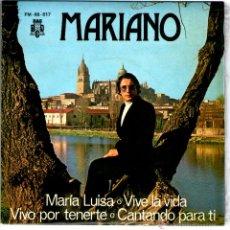 Discos de vinilo: MARIANO CON EL GRUPO LOS VERSALLES MUY RARO. Lote 40234618