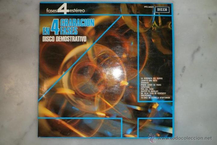 LP 1975 GRABACIÓN EN 4 FASES. DISCO DEMOSTRATIVO. DECCA (Música - Discos - LP Vinilo - Otros estilos)