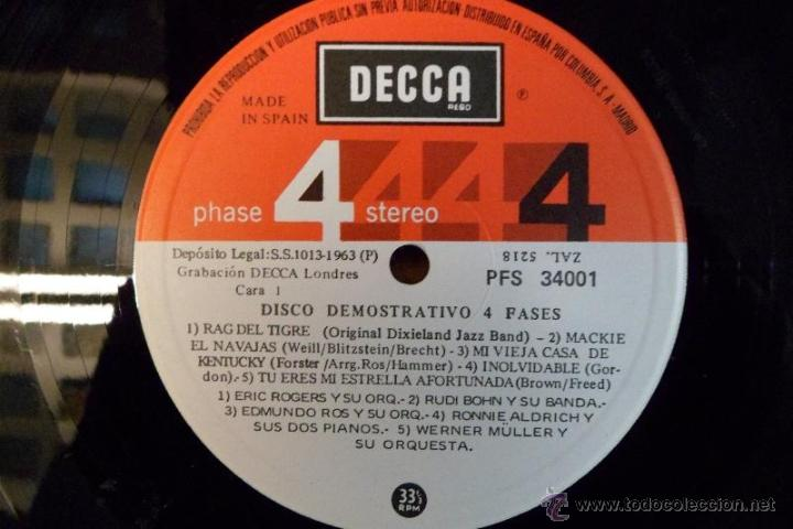 Discos de vinilo: LP 1975 GRABACIÓN EN 4 FASES. DISCO DEMOSTRATIVO. DECCA - Foto 4 - 40279212