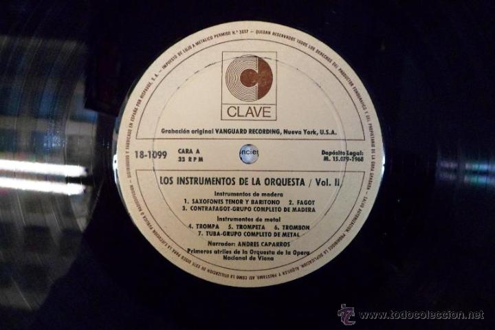 Discos de vinilo: LOS INSTRUMENTOS DE LA ORQUESTA. 2 LPS . 1968. - Foto 6 - 40281342