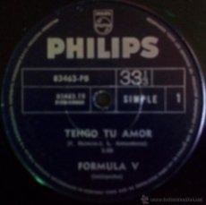Discos de vinilo: LOTE DE SIETE SENCILLOS ARGENTINOS DE FORMULA V. Lote 36038715