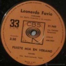 Discos de vinilo: LOTE DE 16 SENCILLOS DE LEONARDO FAVIO EDICIÓN ARGENTINA. Lote 39130432