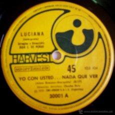 Discos de vinilo: DOS SENCILLOS ARGENTINOS DE LUCIANA. Lote 39498183