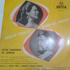 Discos de vinilo: - RENATA TEBALDI - MARIO DEL MONACO - DUOS FAMOSOS DE OPERA-. Lote 40287265